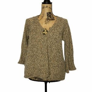 So Wool Blend Button 3/4 Sleeve Knit Cardigan M